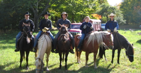 Family Horseback riding near Traverse City Michigan