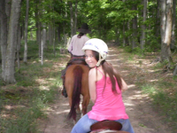 Trail Rides with children in Northern Michigan